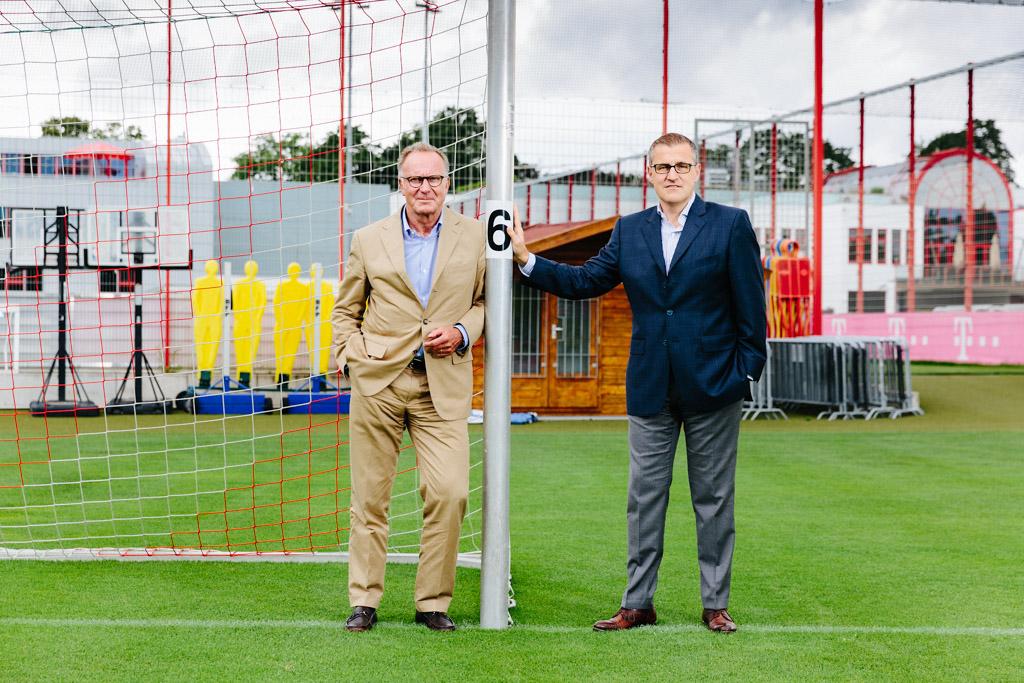 Karl-Heinz Rummenigge CEO und Jan-Christian Dreesen, CFO, FC Bayern München